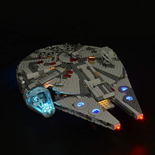 PEXL Beleuchtung Licht Set für LEGO Star Wars Millennium Falcon, LED Beleuchtungsset Kompatibel mit Lego 75257 (Ohne Lego Set)
