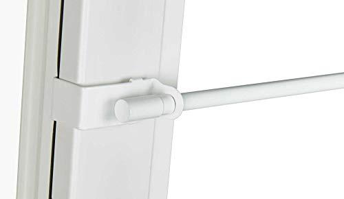 Gardinenbox Klemmstange Scheibenstange »Denver« KlemmFix Metall Ausziehbar 45-75 cm Weiß 8/10mm Montage ohne Schrauben und Bohren Scheibengardine, 20190931