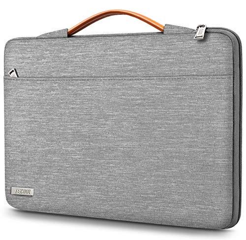 TECOOL Laptop Hülle Tasche für 15-15.6 Zoll Lenovo Thinkpad Ideapad HP Acer Dell Samsung Notebook Chromebook, Schutzhülle Notebooktasche Tragetasche Sleeve mit Griff, Grau