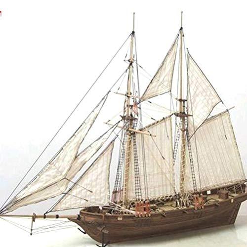 Modellbausatz Schiff, Holzschiff Modelle DIY Schiffsmodell Kit Schiffbausatz Segelschiff Modellbausatz Boot Geschenke Spielzeug für Kinder, Dekoration