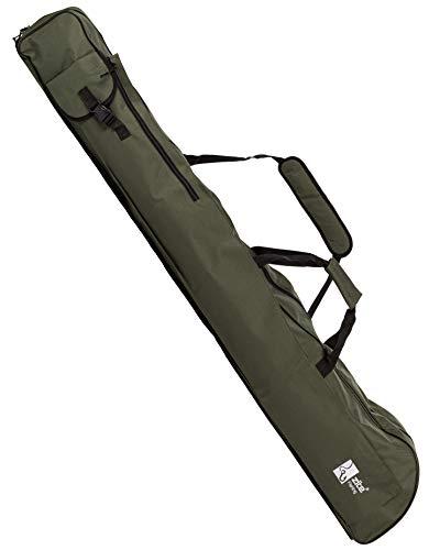 Zite Fishing Rutentasche 150cm - Angelruten Ruten-Futteral mit Schirm- und Kescher-Fach - Tragegriffe und Schulter-Gurt