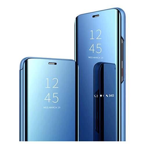 Kompatibel mit Huawei P30 Lite Hülle - Klapphülle Bumper Handyhülle Schutzhülle für Huawei P30 Lite/Huawei P30 Lite New Edition Handytasche Spiegel Hüllen Flip Cover 6,15 Zoll-2