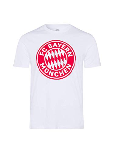 FC Bayern München T-Shirt Logo Uni weiß, XXL