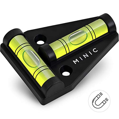 MINIC Magnetische-Kreuzwasserwaage    Kleine Wasserwaage   Strapazierfähig und Bruchsicher   Wohnmobil Zubehör   Starker Magnet   Wohnwagen Zubehör   Perfektes Camping Zubehör