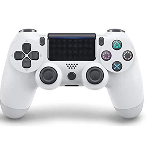 DUXIUYING Wireless-Game-Controller, PS4 Wireless Controller, drahtlose Bluetooth-Game-Controller mit Zwei Vibrations 6-Achsen-und Ladekabel, geeignet für die PC-Host, PS4 (weiß)