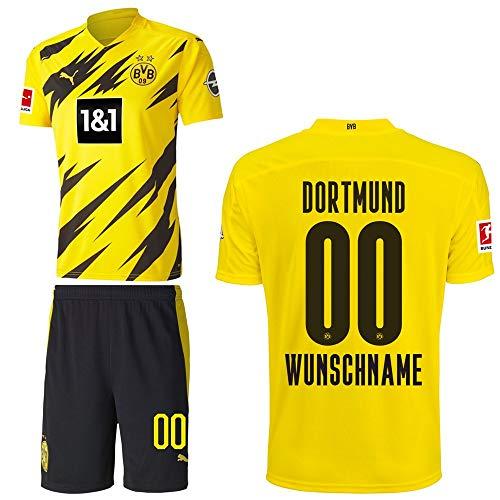 PUMA Borussia Dortmund BVB Heimset 2020 2021 Home Kit Sponsor BL Logo Herren Wunschname 00 Gr M