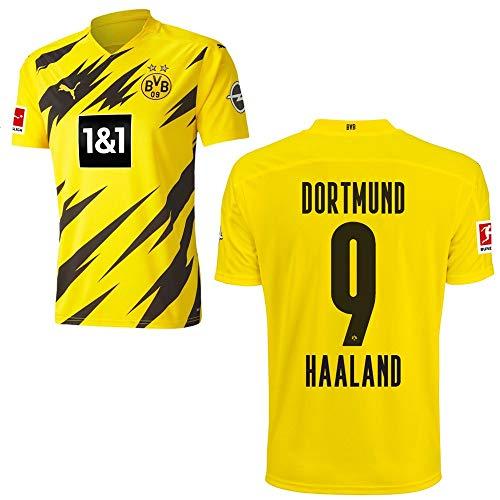 PUMA Borussia Dortmund BVB Heimtrikot 2020 2021 Home Trikot Sponsor BL Logo Herren Erling Haaland 9 Gr L