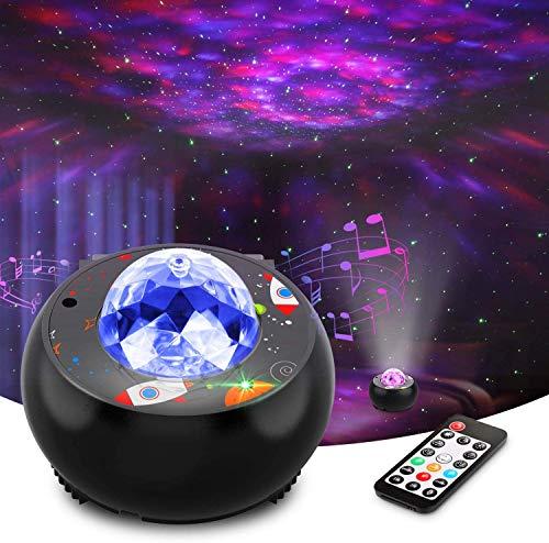 Riarmo Sternenhimmel Projektor,LED Sternenlicht Projektor mit Farbwechsel Musikspieler & Bluetooth &Timer,Ferngesteuerte Nachtlichter für Kinder Erwachsene,Geschenke für Party Weihnachten Ostern