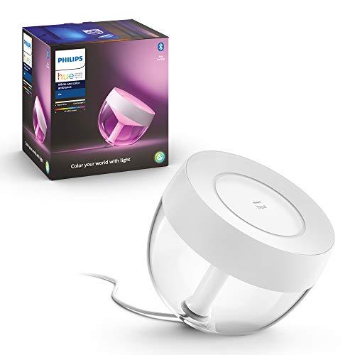 Philips Hue White & Col. Amb. LED-Tischleuchte Iris, weiß, dimmbar, 16 Mio. Farben, Deep Dimming-Funktion, steuerbar via App, kompatibel mit Amazon Alexa (Echo, Echo Dot)