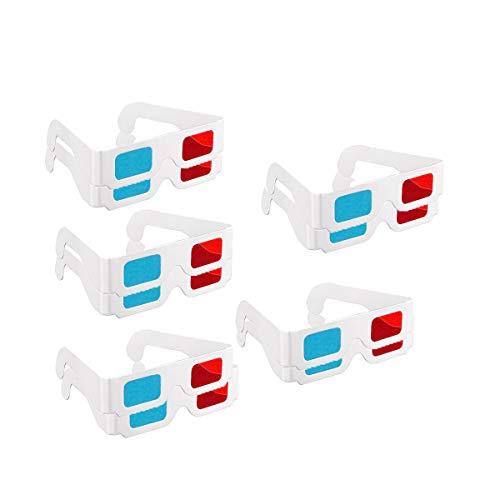 3D Brillen, 10 Paar Papier Rot und Blau Stereo Brille für Film Dekoration