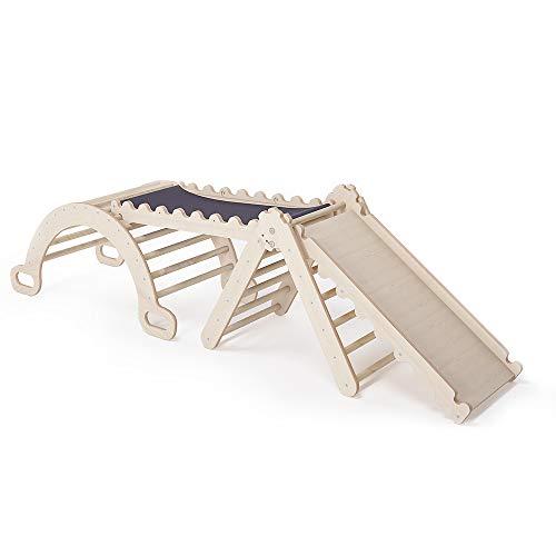 MAMOI Triangle Gym Dreieck v.2 für Kinder Modernes | Klettergerüst Indoor minimalistisches Design | Kletterdreieck für Kleinkinder aus Holz | 100% ECO | Made in EU (Triangle Gym)
