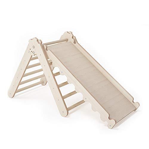 MAMOI Pikler Dreieck v.2 für Kinder Modernes | Klettergerüst Indoor Kinder minimalistisches Design | Nachhaltig Kletterdreieck für Kleinkinder aus Holz | 100% ECO | Made in EU