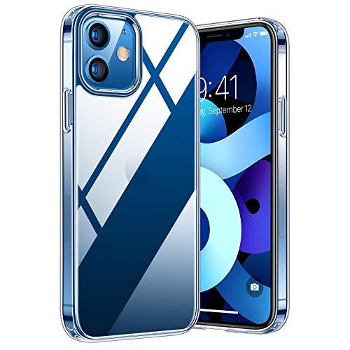 TORRAS Diamond Series für iPhone 12/iPhone 12 Pro Hülle Vergilbungsfrei (Extrem Transparent) Unzerstörbare Sturzfestigkeit Exzellente Kratzfestigkeit Ultra Dünne Handyhülle für iPhone 6,1 Zoll - Clear