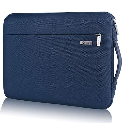 """Voova 360°Schutz Laptoptasche Laptophülle 14-15.6 Zoll mit Griff, wasserdichte 15 Zoll Laptop Tasche Sleeve Notebook Hülle Case Notebooktasche für Neu 16\"""" MacBook Pro, Surface Book 3, Chormebook-Blau"""