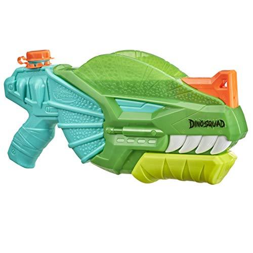 Nerf Super Soaker DinoSquad Dino-Soak Wasserblaster – Pump-Action Wasser-Attacke für Outdoor-Spiele – Für Kinder, Jugendliche, Erwachsene