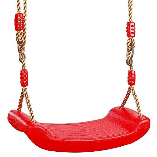 MengH-SHOP Schaukel Schaukelsitz für Kinder Kleinkinder Jugendliche Höhenverstellbar SchaukelSpielplatz für Garten Indoor Outdoor Spiele Rot