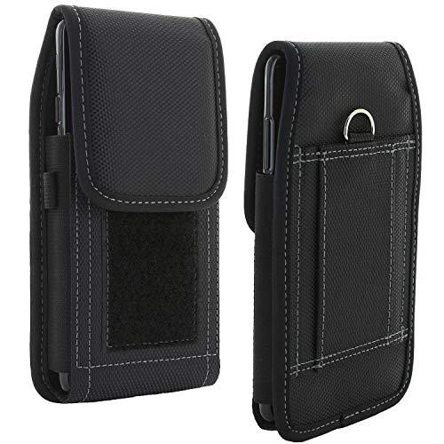 XiRRiX Handy Gürteltasche V7 - Smartphone Tasche kompatibel mit Huawei Y6 Y7 2019 / Nokia 5.4 7.2 / Motorola Moto G7 G8 / Samsung Galaxy A51 M21 M31 / S20 FE / S21 - Gürtel Handytasche schwarz