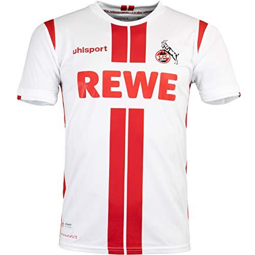 uhlsport 1. FC Köln Trikot Home 20/21 (XL, White/red)