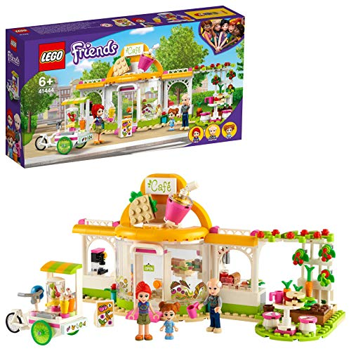 LEGO 41444 Friends Heartlake City Bio-Café Set, Restaurant Spielzeug ab 6 Jahren mit Mia und Anderen Mini Puppen, Lernspielzeug