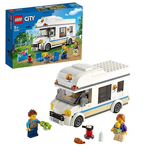 LEGO 60283 City Starke Fahrzeuge Ferien-Wohnmobil Spielzeug, Spielzeugauto Campingbus, Lernspielzeug, Geschenk für Jungen Und Mädchen mit Minifiguren