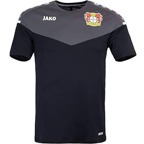 JAKO Bayer 04 Leverkusen Champ 2.0 Trikot (XL, Black/Anthracite)