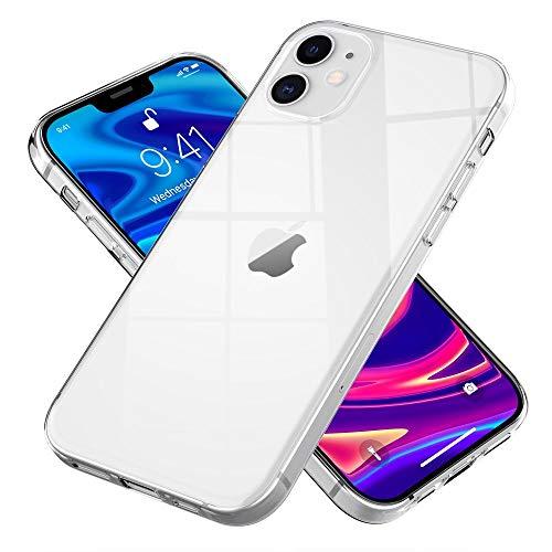 NALIA Klare Handyhülle kompatibel mit iPhone 12 / iPhone 12 Pro Hülle, Transparente Silikon Schutzhülle Clear Case Soft Phone Cover, Dünne Durchsichtige Handy-Tasche Bumper Etui Schale Backcover Skin