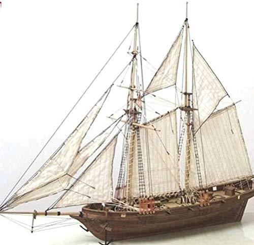ISAKEN Segelboot Holz Modell,Holzschiff Modelle DIY Schiffsmodell Kit,Modellbausatz Holz Schiff-Bausatz Flaggschiff Holzmodell Modellschiff Spielzeug für Kinder