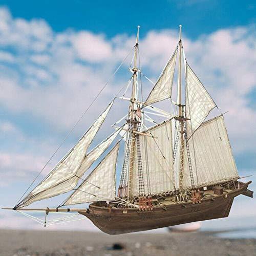 Herbests Holz Segelboot Modell, Holzschiff Modelle DIY Schiffsmodell Kit Schiffbausatz Segelschiff Modellbausatz Flaggschiff Holzmodell Spielzeug DIY Holzpuzzle Bausatz für Erwachsene Kinder