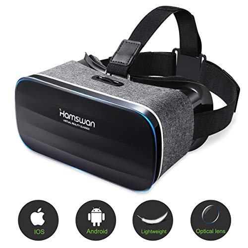 3D VR Brille, VR Headset, Virtual-Reality-Brille, Panorama-Sicht, 360 Grad, für iPhone & Android Smartphone von 4,0-6,0 Zoll