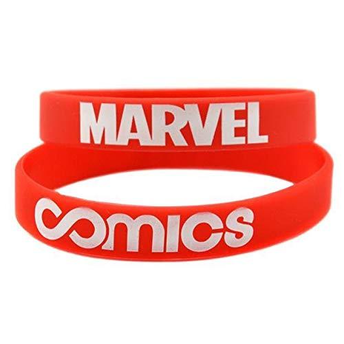 ZJZ Amazon Explosion Modelle Marvel Comic-Silikon-Armband Armband Spiel Superheld-Film-Serie Armband (Color : Red)