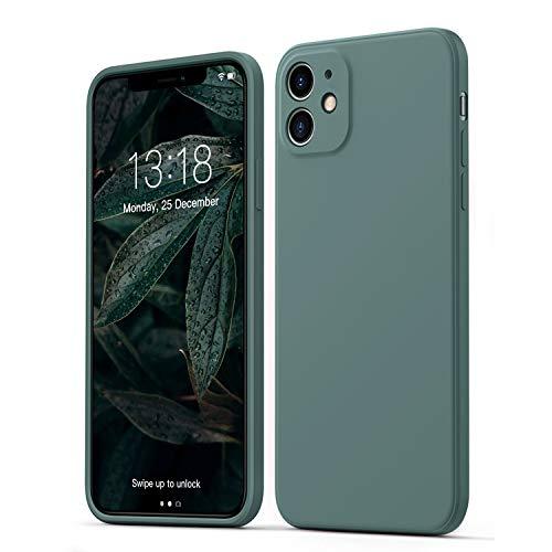 GOODVIHSH Hülle Kompatibel mit iPhone 11 | Ultra dünn Liquid Silicone Hülle | Kameraschutz und Bildschirmschutz | 360° Voll abgedeckte stoßfeste Handyhülle für iPhone 11-6,1 Zoll | Grün