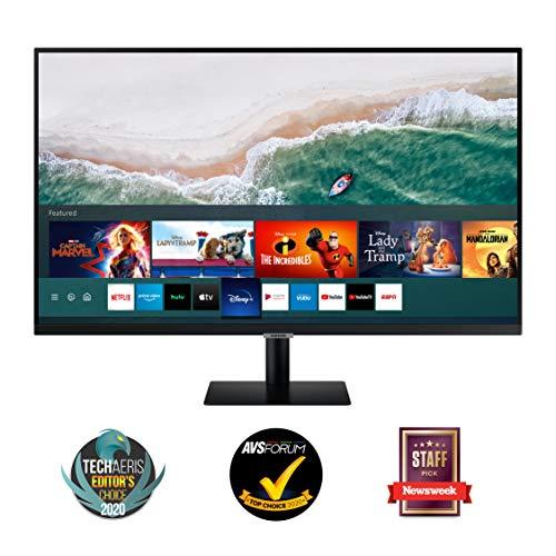 Samsung M7 Smart Monitor 32-Zoll Bildschirm VA-Panel UHD mit Lautsprechern 4K USB Typ C Randlos Smart-TV-Apps