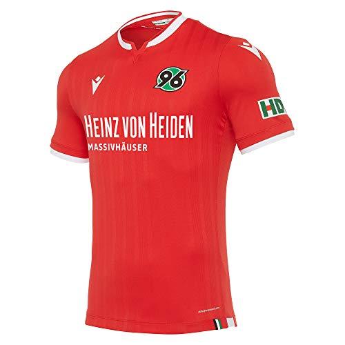 Macron Fanartikel Hannover 96 · H96 Bundesliga Trikot Home 20-21 · Bekleidung Oberteil Hemd Jersey Shirt Heimtrikot · Kids Jungen Mädchen Jungs Mädels · Saison 2020-2021, Kinder, Größe 116-122