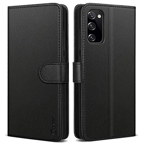 Vakoo Handyhülle für Samsung Galaxy S20 FE Hülle Leder Schutzhülle Wallet Flip Case für Samsung Galaxy S20 FE, mit RFID Schutz, Schwarz