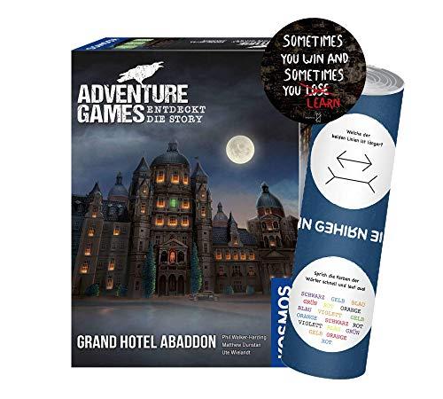 Collectix Adventure Games - Grand Hotel Abaddon. Entdeckt die Story, Abenteuerspiel ab 12 Jahren + 1x Exit-Sticker + 1x optische Täuschungsposter