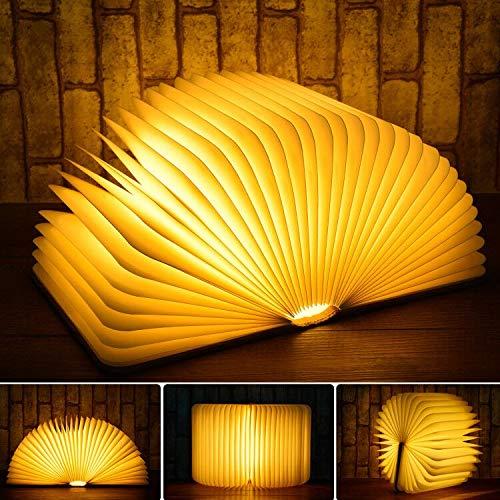 LED Buchlampe Stimmungslicht dekorative Buch Lampe 6 Modi RGB Farbwechseln, JOLVVN 360° faltbar Deko Lampen Buchformig Nachtlicht Licht Geburtstag Weihnachten Weihnacht Geschenk
