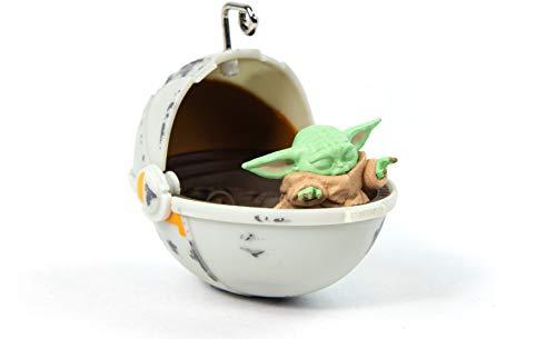 Numskull Offiziell Star Wars The Mandalorian Baby Yoda The Child 3D-Weihnachtsbaumschmuck - Violetter weihnachtlicher Hängedekor, einheitsgröße, NS2440