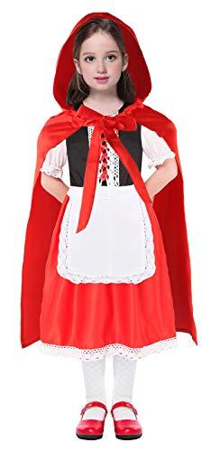 Seawhisper Rotkäppchen Kostüm Kinder Mädchen Kinderkostüme Karneval Umhang Faschingskostüme Karnevalskostüme 122 128 104 110 116 134 140 146