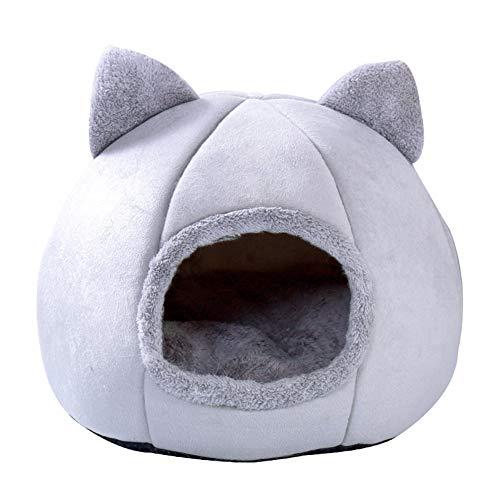 Bestevery Katzenhaus, Katzenhaus Für Draußen Winterfest, Katzenzelt Katzenkorb zum Schlafen für Kleine bis Mittlere Größe Katzen