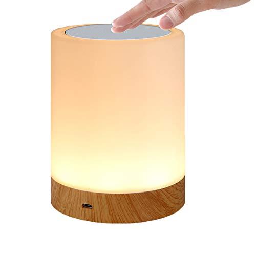 KEEPBLANCE LED Nachttischlampe, Dimmbar Kinder Nachtlicht, Farbwechsel Lampe, Dimmbar Touch Tischlampe, Stimmungslichter, USB Nachtlicht für Schlafzimmer/Kinderzimmer/Camping Geschenk