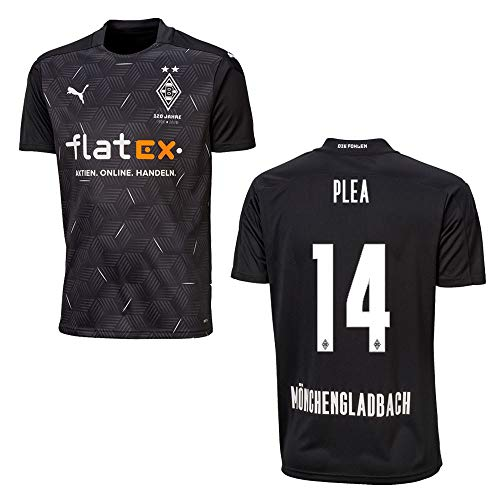 BMG Borussia MÖNCHENGLADBACH Trikot Away Kinder 2021, Größe:140, Spielerflock (zzgl. 10.00EUR):14 Plea