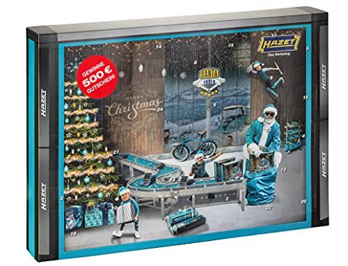 HAZET Santa Tools 2021 Männer Adventskalender mit Werkzeug, 28-teilig mit Tool Weltneuheit im extra rutschfesten Smart Case zur Aufbewahrung und Gutschein für den HAZET Fan Shop