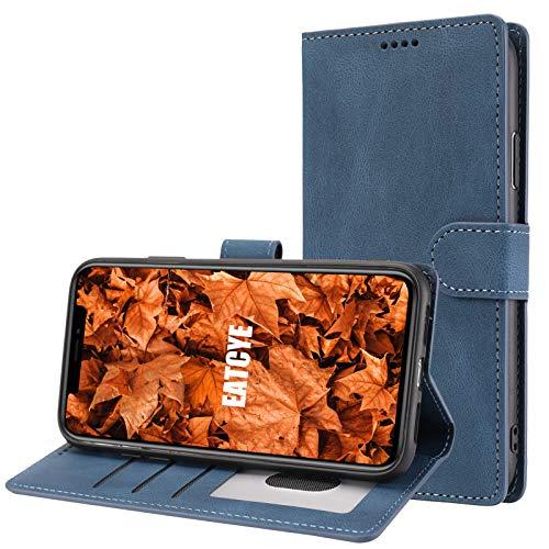 EATCYE Hülle für iPhone 8 Plus/iPhone 7 Plus,Handyhülle für iPhone 8 Plus/iPhone 7 Plus (5,5 Zoll),Ultra Dünn Elegant Brieftasche PU Leder Flip Case Magnetverschluss Handytasche Klapphülle (Blau)