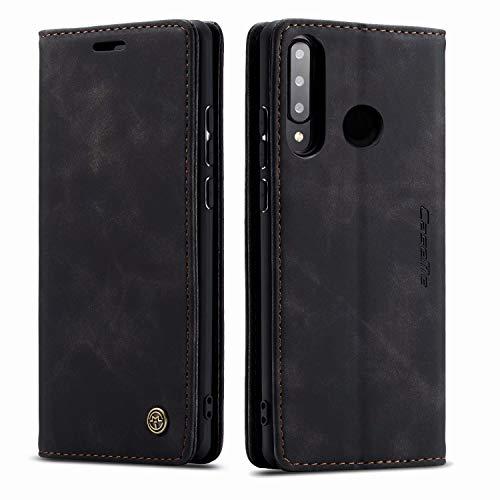 AZONE Handyhülle für Huawei P30 Lite / P30 lite New Edition Hülle- Premium Leder Flip Schutzhülle Ledertasche Etui Lederhülle - (Schwarz)