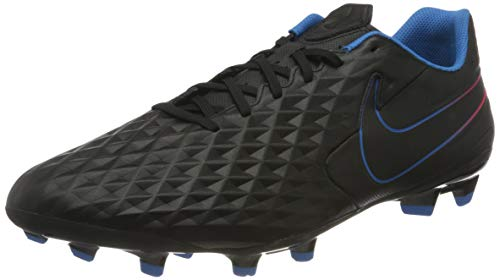 Nike Unisex Tiempo Legend 8 Academy MG Football Shoe, Black/Black-Siren Red-Light Photo Blue-Cyber, 42.5 EU