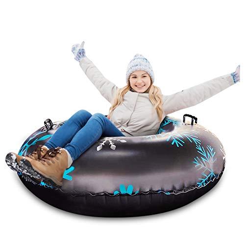 Qdreclod 47\'\' Aufblasbare Schlitten für Erwachsene, Schwerlast Aufblasbare Snow Tube mit Griffen, Kratzfest, Frostbeständig, Ideal für den Winter Outdoor-Spaß