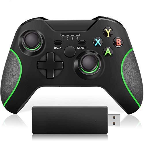 VOYEE Wireless Controller kompatibel with Xbox One Controller, Upgraded Controller Kompatibel mit Xbox One /S /X /Elite /PC Windows 10 - Schwarz