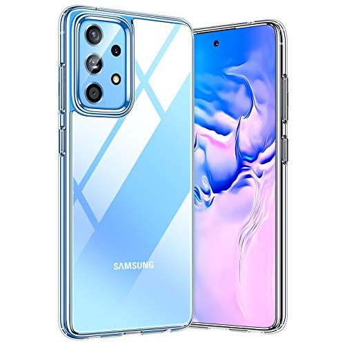 TORRAS Diamond Series für Samsung Galaxy A52 Hülle Transparent (Vergilbungsfrei) Samsung A52 5G Hülle Durchsichtig Starke Stoßfestigkeit Unzerstörbare Handyhülle Samsung A52 5G - Transparent