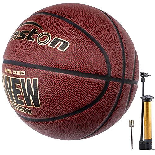 Senston PU Indoor/Outdoor Basketball Größe 7 Arena Training Erwachsene Anfänger Basketbälle mit Inflator