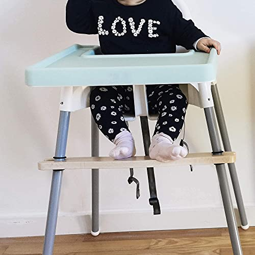 Baby Silikonmatte für IKEA Hochstuhl | Silikon Einlage wasserfest & rutschfest für Kinder | Zubehör Tischset Antilop